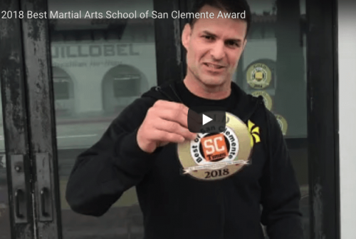 guillobel showing sticker of best martial arts school near me