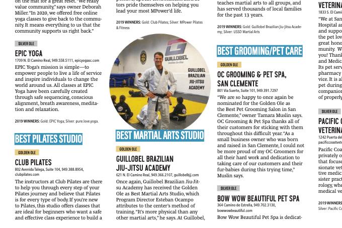 Best Martial arts school in San Clemente 2020